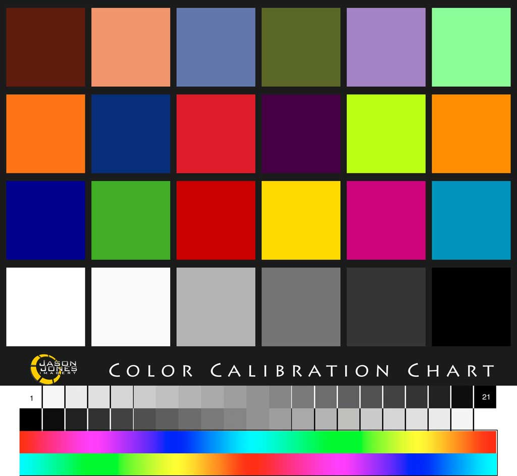 jason jones imagery color calibration chart