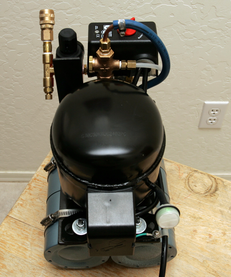 how to make an air compressor from an old refrigerator